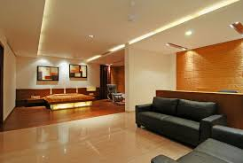 Wood Interior Wall Paneling Exquisite Modern Open Space Bedroom With Black Leather Sofa Also