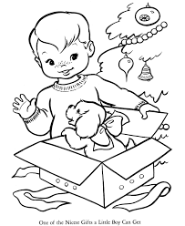 Christmas Present Coloring