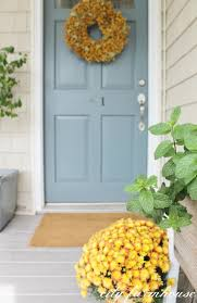 rustic fall front porch benjamin moore front doors and slate
