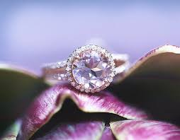 verlobungsringe preis 7mm runde schnitt morganit halo diamant ring in14k rotgold ehering