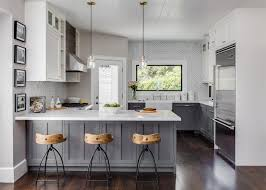 Small Home With Big Style Warm Grey Walls Base Cabinets And - Small kitchen white cabinets