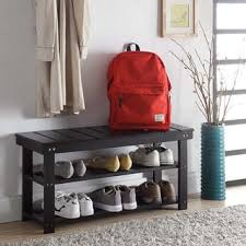 Bench With Shoe Storage Shoe Rack Bench For Less Overstock
