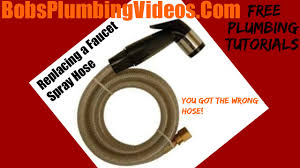 how to repair or replace a faucet spray hose youtube