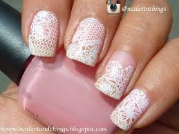 30 very cute white lace nail art design ideas