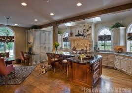open floor plan kitchen open floor plan designs with beams faux wood workshop