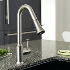 delta stainless high arc kitchen faucet with side spray moen