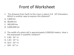 scientific notation worksheet math worksheet randomized
