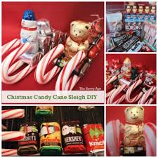 christmas candy gifts diy christmas candy sleigh the savvy age
