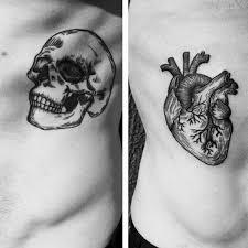 Mens Rib - with skull themed mens rib cage side