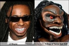 Lil Wayne Be Like Memes - lil wayne totally looks like trilogy of terror zuni doll