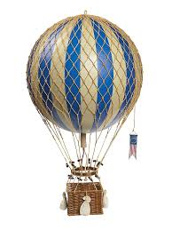 heißluftballon kinderzimmer ballon modell royal aero ballon blau ø 32 cm hängemodell chro