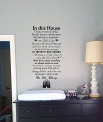 Disney Home Decorations by In This House We Do Disney Wall Decals Disney Quotes Wall