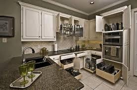 kitchen cabinet bin simple wooden flooring white wooden cabinet modern beige wall