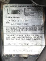 nikki carb with an onan intake on a linamar engine
