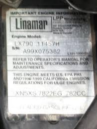 nikki carb with an onan intake on a linamar engine