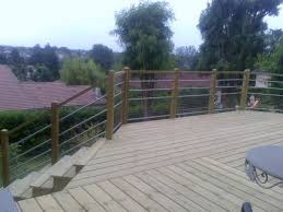 terrasse suspendue en bois terrasse en bois sur pilotis