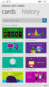 gift cards apps microsoft digital gift cards app for windows phone 8 1 it pro
