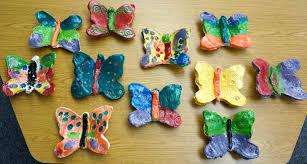 that artist woman clay butterflies