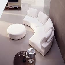hs maxim this round sofa in modern look with stool is a real eye