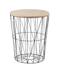 table basse bout de canapé bout de canapé en métal et bois noir l 43 cm janet 49 99 wish