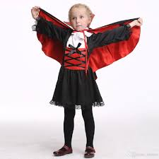 girls vampire dress costume halloween costume for kids stage