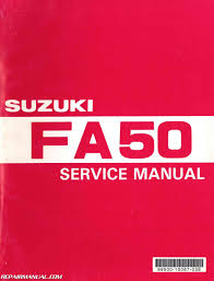 1980 1991 suzuki fa50 moped service manual