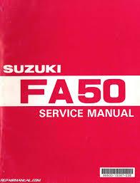 1980 1991 suzuki fa50 moped service manual