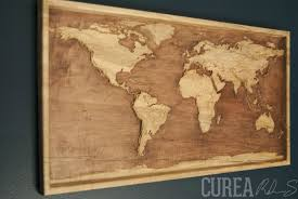 Diy World Map by Wood Relief Carving By Curea Map Wood Carving World