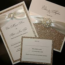 wedding invitations glitter chagne gold glitter wedding invitations luxury handmade