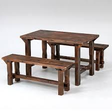 gardening bench ymworld rakuten global market burnt cedar table bench set