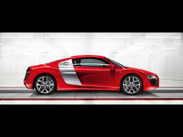 red audi r8 wallpaper 2009 audi r8 5 2 fsi quattro red side 1920x1440 wallpaper