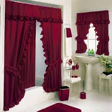 Small Bathroom Window Curtains by Bathroom Curtain Ideas Red