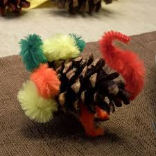 how to make a pine cone turkey thanksgiving crafts s