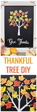 thankful tree craft home decor for thanksgiving make lovely