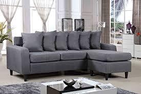 MELBOURNE L SHAPE CORNER SOFA IN GREY FABRIC CheapSofas - Cheap sofa melbourne