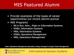 information u0026 decision systems department of mis college of