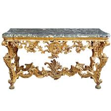 Italian Console Table An Italian Gilt Wood Console Table Tuscan Second Quarter Of 18th
