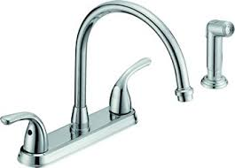 8 two handle kitchen faucet with spray chrome tucks discount sales