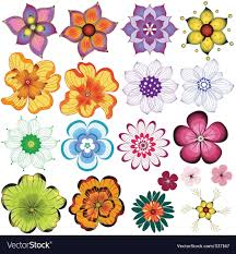 decorative flower collection decorative flowers royalty free vector image