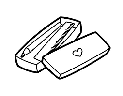 pencil coloring pages little box with pencil and ruler coloring page coloringcrew com