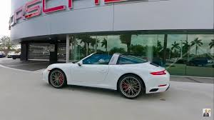 targa porsche 2017 white porsche 911 targa 4s 420 hp porsche west broward