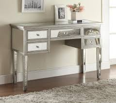 Bedroom With Mirrored Furniture Small Mirrored Tables Diy Makeup Vanity Tables Black Silver Leaf