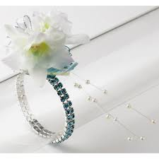 Turquoise Corsage Sophisticated Lady Corsage Bracelet Turquoise Corsage Creations