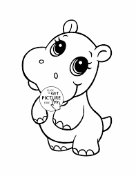 baby cute printable animal coloring sheets hippo animal coloring