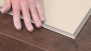 Laminate Floor Edging Trim Connect Two Flooring Surfaces With Reno T Ramp Trim Youtube