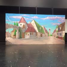 beauty the beast hibbing community college village backdrop beauty the beast theater sets props