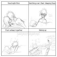 Couples Sleeping Meme - couples night meme pierce and lucy by mutantparasitex on deviantart