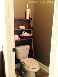 Bathroom Storage Ladder Diy Leaning Ladder Bathroom Shelf Plans By White Handmade