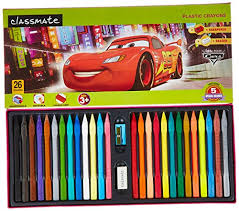 classmate products classmate plastic 110mm crayons 26 shades crayons office