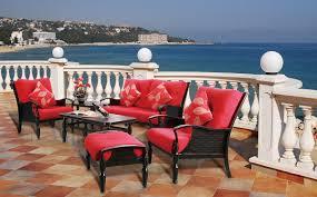 Wooden Sofa Chair With Cushions 5 Piece Red Cushion Sofa Patio Set